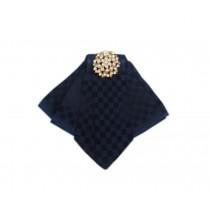 Professional Neckties for Women Formal Wear Ties(Rhombus Grid Pattern)