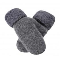 Warm Fingerless Gloves Woollen Mitten Lovely Women's Winter Gloves, GREY