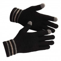 Men's Gloves/Knitted Woolen Gloves/Outdoor Cycling Gloves/Wonderful Gift/ BLCAK