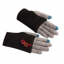 Lovely Knitted Woolen Gloves/Touch Screen Gloves/Great Gift for Lovers/ BLACK