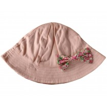 Toddler Girls Bucket Hat Cotton Pink Sun Hat