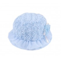 Blue Ruffled Flower Toddlers Bucket Hat