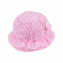 Pink Ruffled Flower Toddlers Bucket Hat