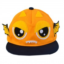 Fashion Toddler Cap Orange Demon Flat Cap