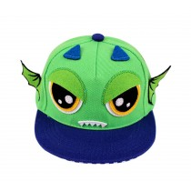 Fashion Toddler Cap Green Demon Flat Cap