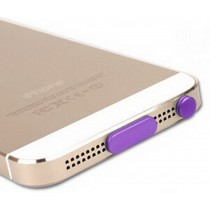 Modern Stylish Data Tail & Headset Dust Plug For iphone5s PURPLE