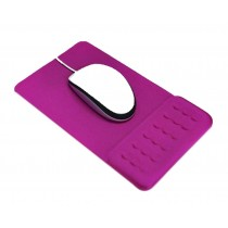 Massage Wrist Mouse Pad Breathable, Rose Red