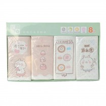 8 Bags Cute Rabbit Printed Facial Tissue Daily Use Pocket Tissue for Wedding Party Favors