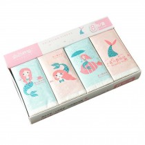 8 Bags Cute Mermaid Print Facial Tissue Pocket Tissue for Wedding Party Favors Daily Use, Pink Blue