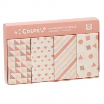 8 Bags Cute Pattern Print Facial Tissue Pocket Tissue for Wedding Party Favors Daily Use, Pink