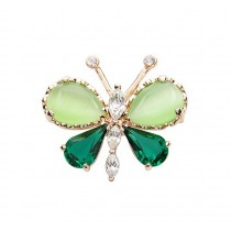 Women Gifts Fashion Butterfly Shaped Shining Crystal Brooches and Pins