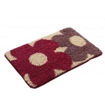 Bedroom Carpet Kitchen Bathroom Non-slip Cotton Door Mat (40x60cm,Double Flower)