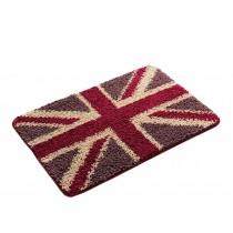 Bedroom Carpet Kitchen Bathroom Non-slip Cotton Door Mat (40x60cm, British Flag)