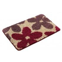 Bedroom Carpet Kitchen Bathroom Non-slip Cotton Door Mat (40x60cm, Flowers)