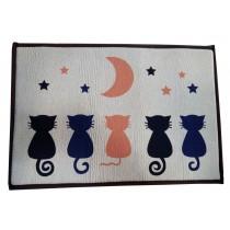 Bedroom Carpet Kitchen Bathroom Non-slip Cotton Door Mat (40 By 60cm)Five Cats