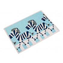 Nordic Style Bedroom Carpet Kitchen Bathroom Non-slip Carpet Zebra Mat