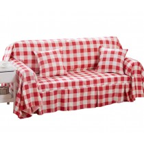 (Red Checkered) Furniture Slipcover Sofa Protector Cover, 190x260cm/75x102inch