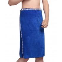 Men's Bath Towel Soft and Absorbent Towel Shower Wrap Towel, Blue