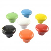 PANDA SUPERSTORE Set of 7 32mm Colorful Ceramic Cabinet Knob Drawer Pull Handle (7 Colors)