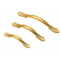 PANDA SUPERSTORE Set of 4 Euro Style Cabinet Hardware Wardrobe Handle Pull(Luxury Gold Color)96mm