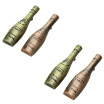 PANDA SUPERSTORE Set of 4 Retro Pastoral [Bottle] Zinc Alloy Drawer&Door Handles/Pulls(4*1*0.9'')