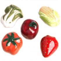 PANDA SUPERSTORE Set of 4 [Vegetable] Ceramic Kitchen Drawer/Cabinet Handles,1.7*1'',Random Style