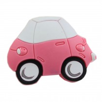 PANDA SUPERSTORE Set of 4 Lovely[PINK Car]Protective PVC Kids Drawer Handles/Pulls(1.8*1.4*0.9'')
