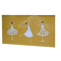 PANDA SUPERSTORE Lovely Ballet Girls DIY Cross-Stitch 11 CT Embroidery Kits Art Craft(14.9*7.8'')
