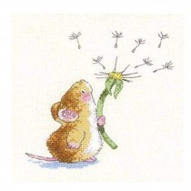 PANDA SUPERSTORE [Cute Mice] DIY Cross-Stitch 11 CT Embroidery Kits Kids Room Decors (8.2*8.2'')
