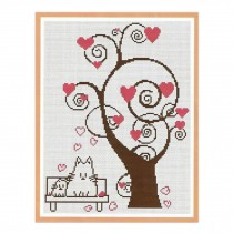 PANDA SUPERSTORE [Love Tree] DIY Cross-Stitch 11 CT Embroidery Kits Room Decorations(10.6*13.7'')