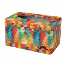 Colorful Tissue Paper Cover Household Tissue Holder Retro Iron Sheet Tissue Box