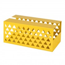 Iron Sheet Tissue Holder Geometric Hollow Tissue Box Tissue Paper Cover YELLOW