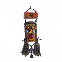 Featured Monster Facial Makeup Wind Chime Vintage Bar Wall Decor ORANGE