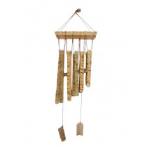 Leopard Print Bamboo Wind Chime Wooden Garden Wind Bell