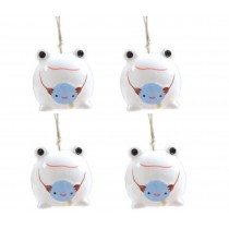 Set of 4 Frog Wind Chimes Ceramic DIY Wind Bells Supplies