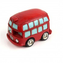 Creative Gifts Resinous Double-Decker Bus Model (6.5CM)