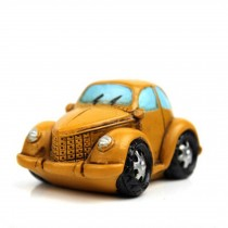 Creative Gifts Resinous Small Ornaments Vintage Car Model(Yellow 6.5CM)