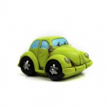 Creative Gifts Resinous Small Ornaments Vintage Car Model(Light green 6.5cm)