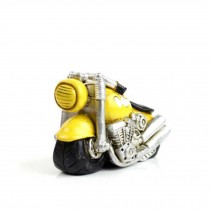 Creative Gifts Resinous Small Ornaments Vintage Motorcycle Model(Yellow 6.5cm)