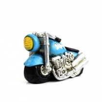 Creative Gifts Resinous Small Ornaments Vintage Motorcycle Model(Blue 6.5cm)