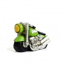 Creative Gifts Resinous Small Ornaments Vintage Motorcycle Model(Green 6.5cm)