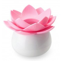 Lotus Flower Toothpick Box Toothpick Holder With Transparent Dust Cover PINK