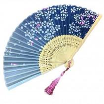 Handheld Fan Folding Fan Aya Silk Handheld Folding Fan Chinese/Japanese Silk