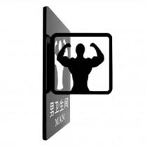 [MAN] Acrylic Signpost Department Creative Sign Doorplate Warning Sign