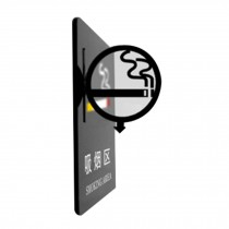 [NO SMOKING] Acrylic Signpost Department Creative Sign Doorplate Warning Sign
