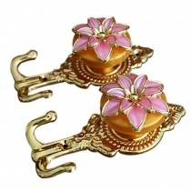 4 Pieces Curtain Flower Decorative Buckles/Holders, NO.2(14*6.5cm)