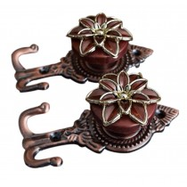 4 Pieces Curtain Flower Decorative Buckles/Holders, NO.3(14*6.5cm)