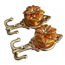 4 Pieces Curtain Flower Decorative Buckles/Holders, NO.4(14*6.5cm)