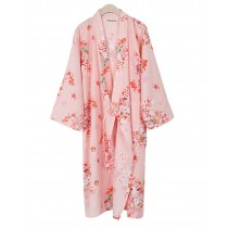 Floral Cotton Pajamas Sleeping Sweat Khan Steamed Clothing Loose Pajamas Yukata