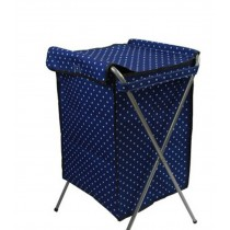 Household Essentials Foldable Laundry Basket With A Cover(66*40*35cm??BLUE